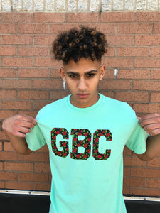 GBC Tropical Green and Floral Print