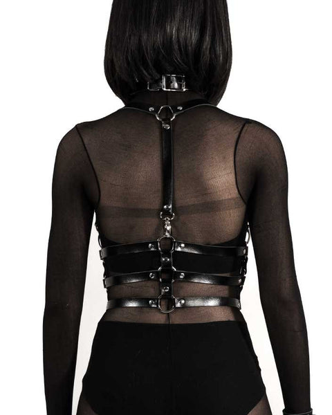 Tri Novi Leather Body Harness