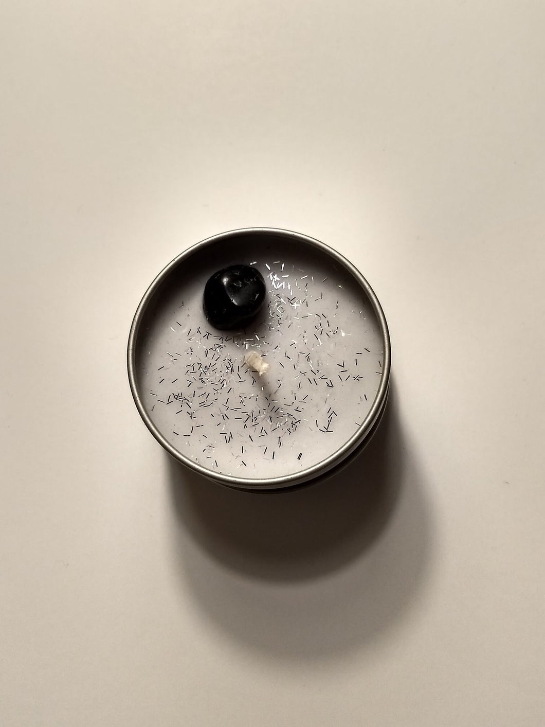 Luna Intention Crystal Candle- Black Onyx