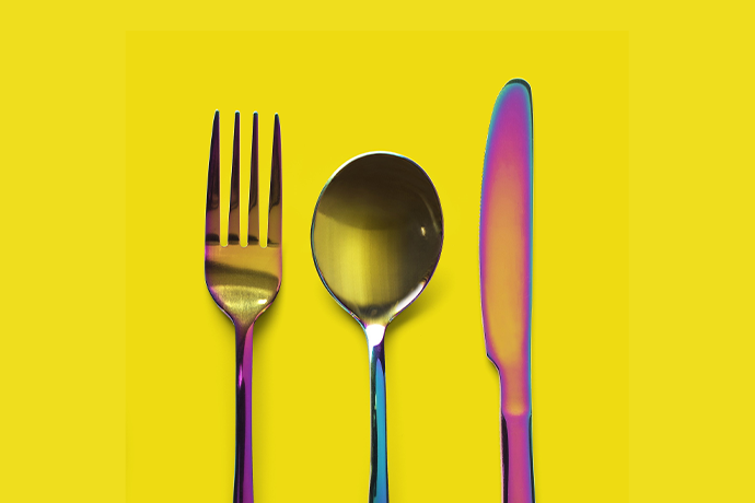 Rainbow silverware set