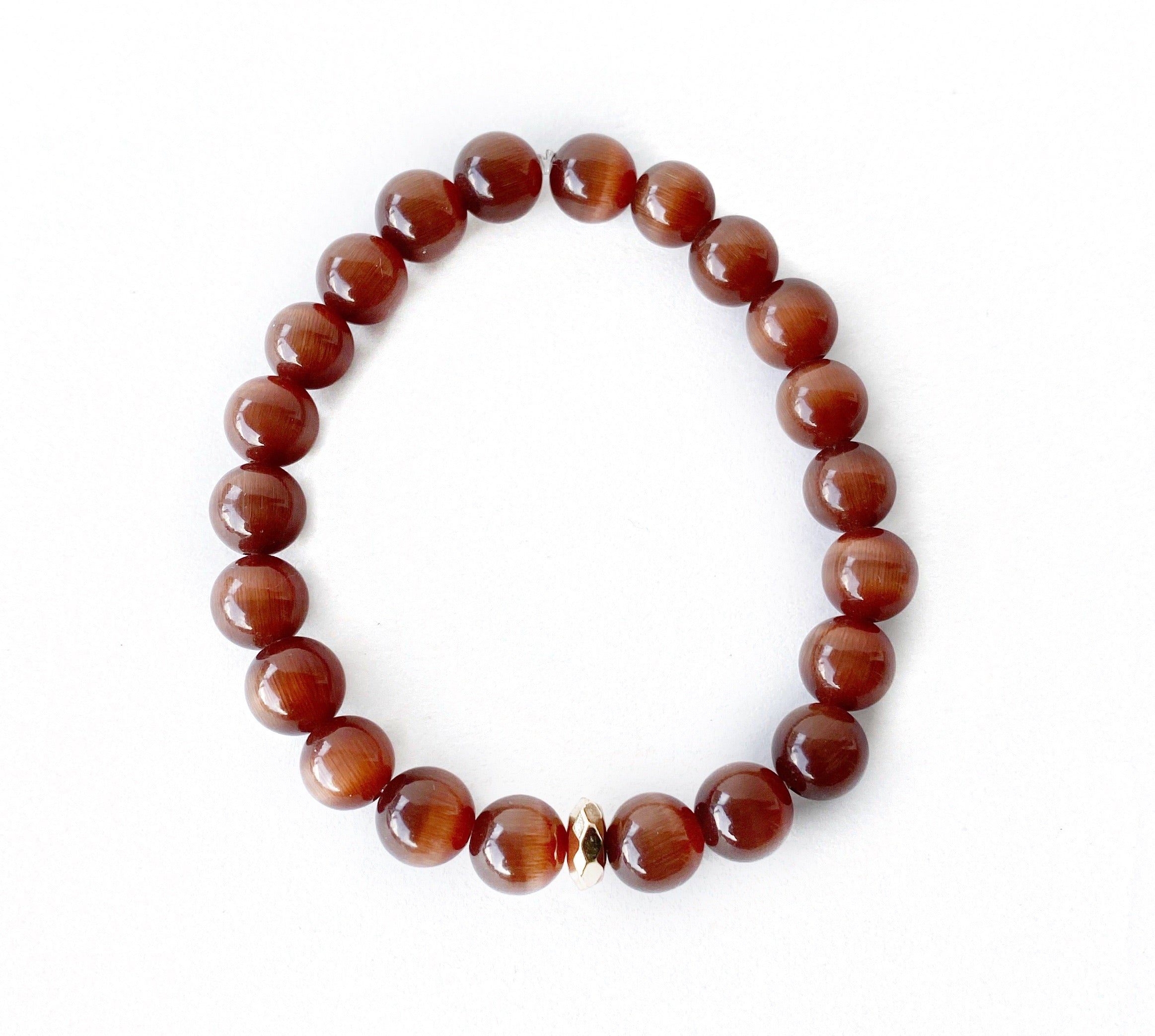 Carved Soapstone & Brown Beaded Bracelets