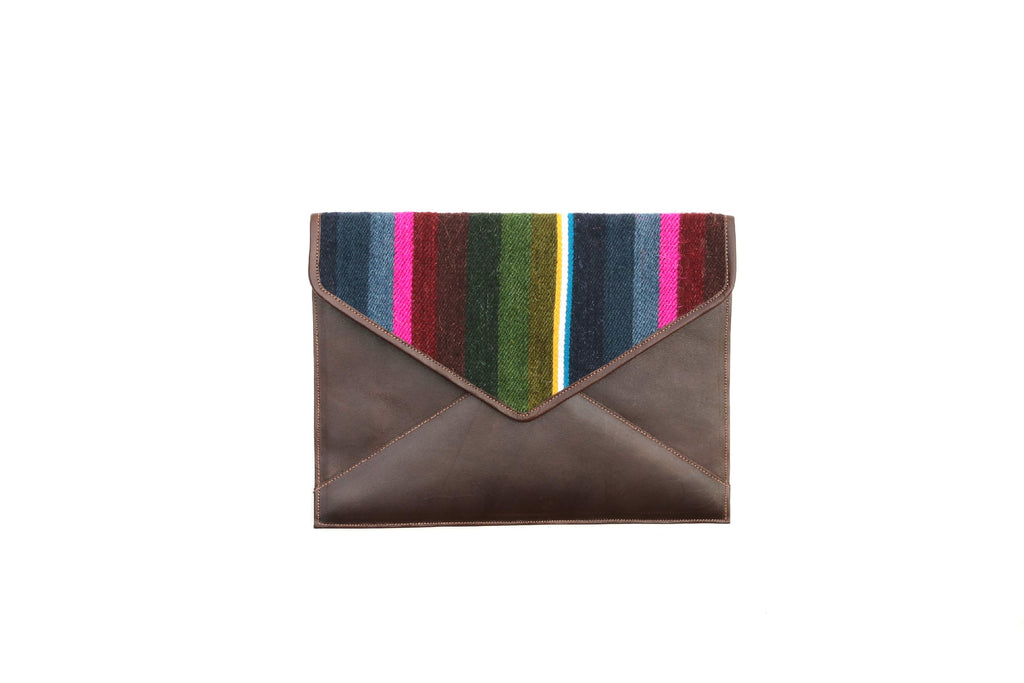 Mustang Wool Envelope Clutch