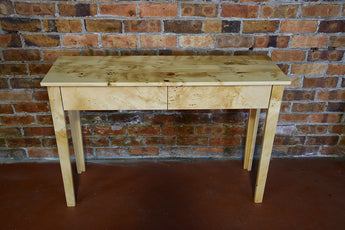 Exhibition Grade Birds Eye Huon Console Table & Drawers