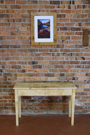 Exhibition Grade Bird's Eye Huon Console Table & Drawers - Distinctive Furniture Tasmania