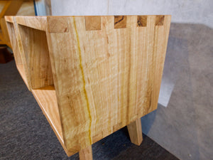 Figured Tasmanian Oak Bedside Tables