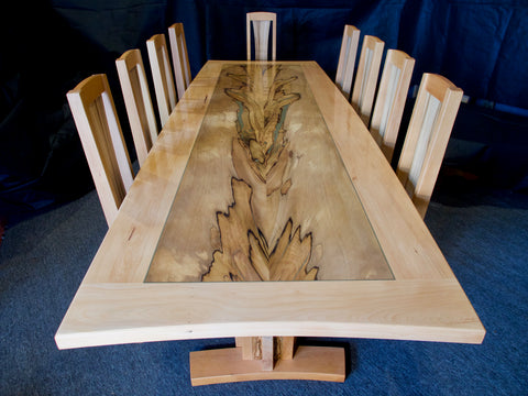 Blackheart Sassafras and Celery Top Dining Table 11pc Set
