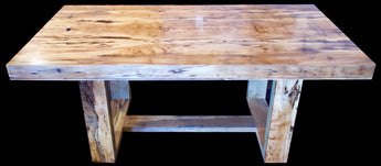 Spalted Blackheart Sassafras Contemporary Desk/Table