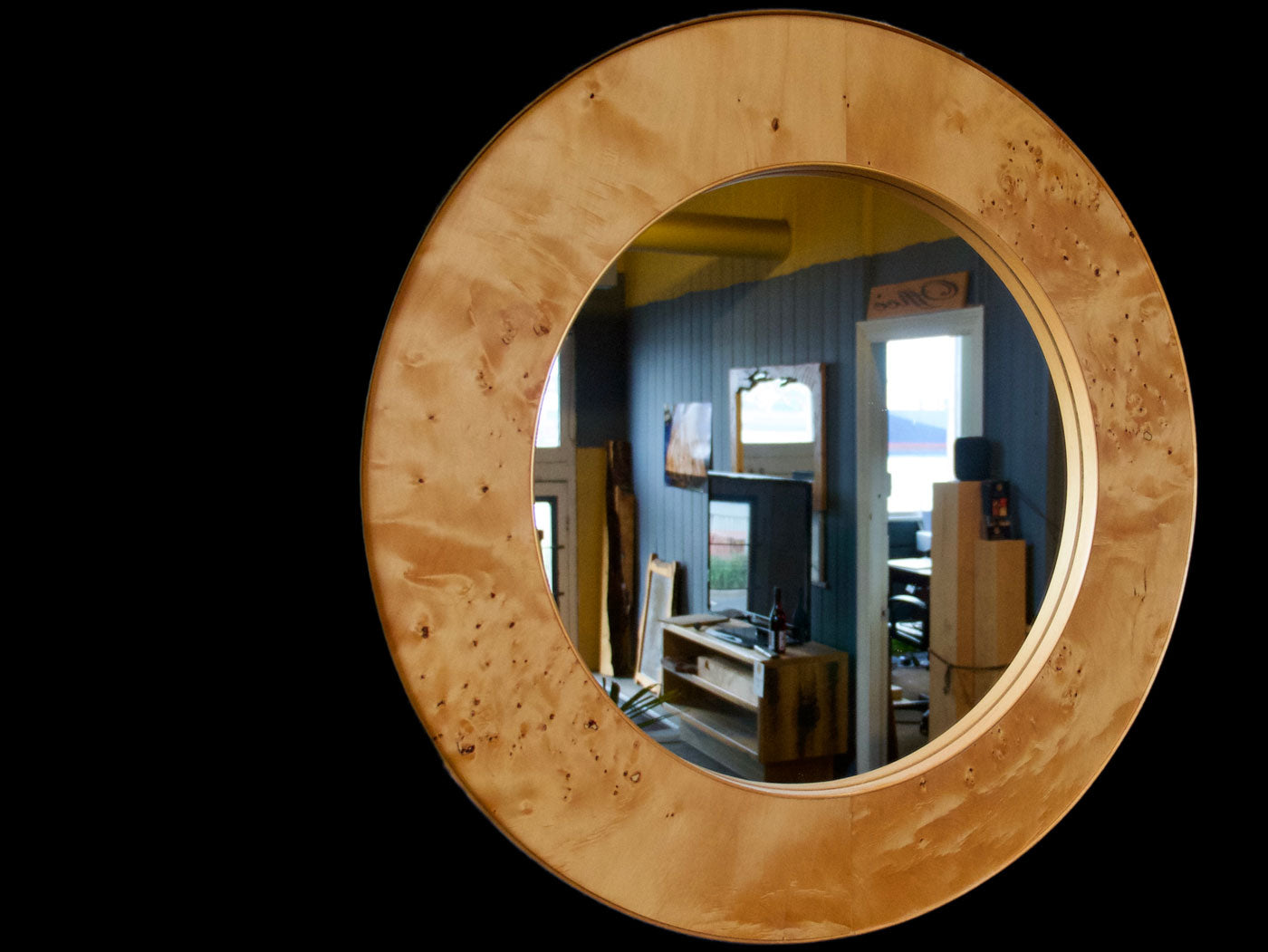 Birds Eye Huon Mirror (Veneer)  SOLD
