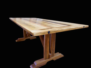 Rustic Tas Oak Table recycled from old farm planks ! solid bolted ! beautiful