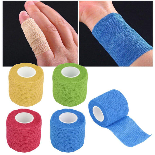 New Arrival  Self-Adhering Bandage Wraps Elastic Adhesive First Aid Tape Stretch 5cm free shipping - Doctor Doomsday Survival Co.