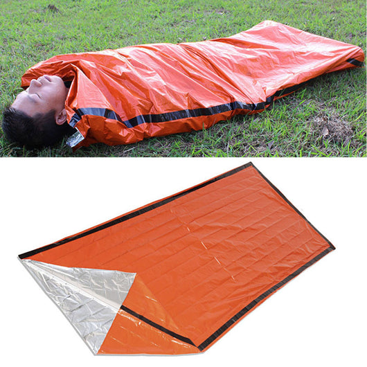 Orange Emergency Sleeping Bag Camping Outdoor Survival Tarp Shelter 213*91CM - Doctor Doomsday Survival Co.