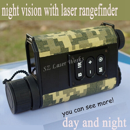 6X32 digital monocular infrared day and night vision goggles with rangefinder and compass Night Vision telescope for hunting - Doctor Doomsday Survival Co.