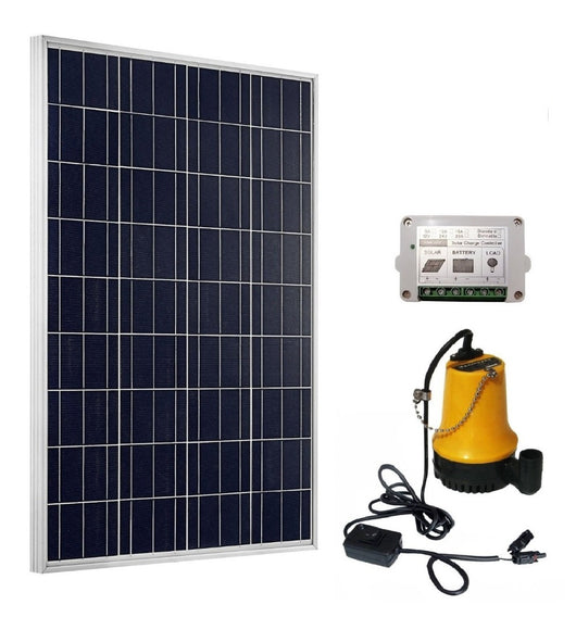 Solar Pump System Kits:100W Solar Panel & 12V Pond Water Pump & 15A Controller - Doctor Doomsday Survival Co.