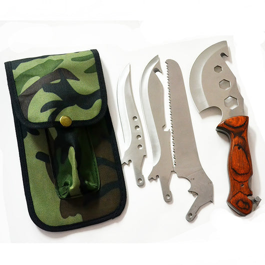 Four in one multifunction tool hand axes knife outdoor ax machete hatchet 420 Steel - Doctor Doomsday Survival Co.