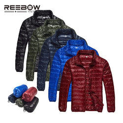 REEBOW TACTICAL 2016 Men Fall/ Winter Outdoor Duck Down Jacket (Ultra Light Thermal Pocketable Portable Outerwear)