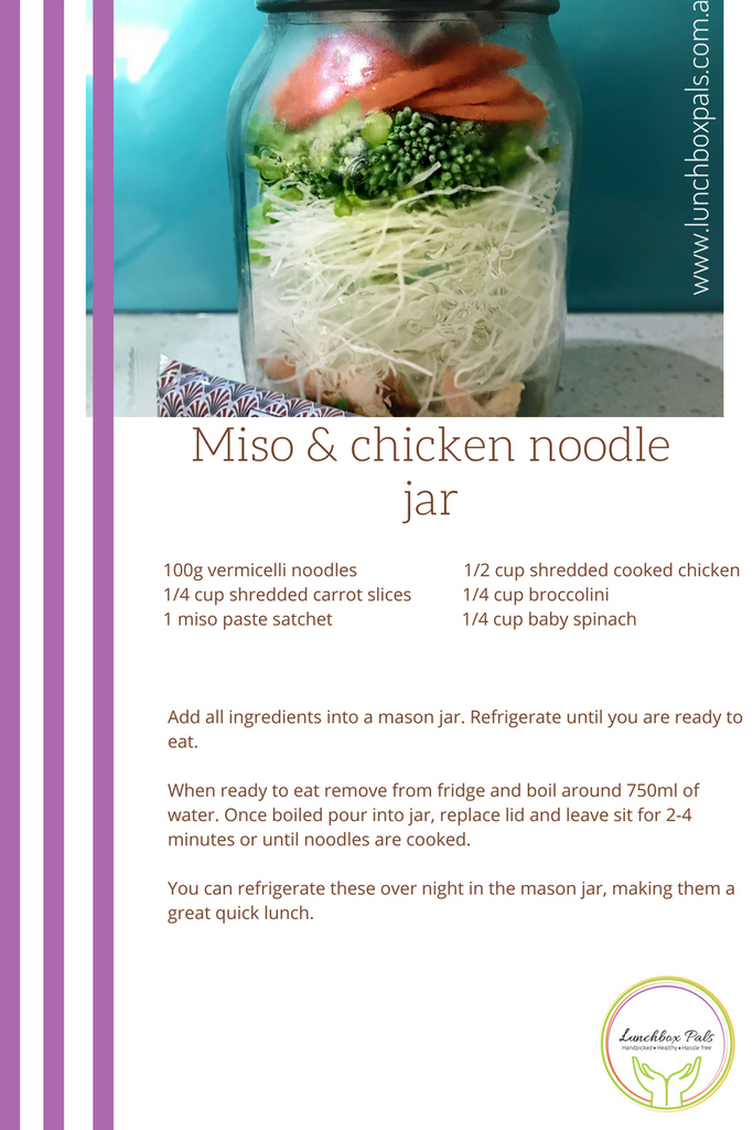 Lunchbox Pals chicken miso noodle recipe
