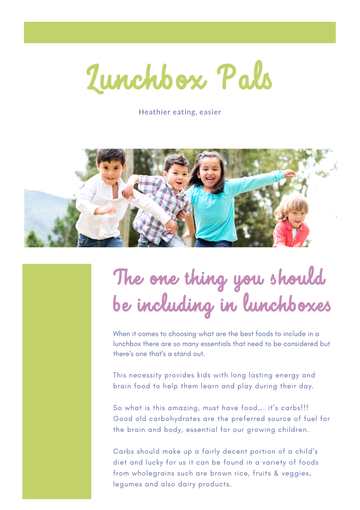 Lunchbox pals healthy lunchboxes