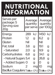 health lab apricot probiotic bites nutritional information