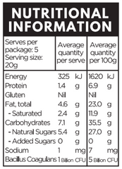 health lab_berry probiotic bites_nutritional information