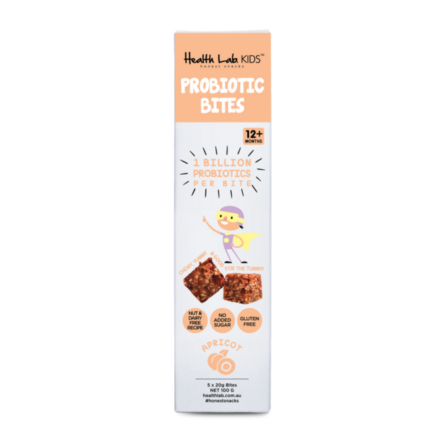 Health lab apricot probiotic bites