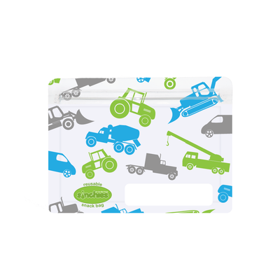 Sinchies reusable snack bag - trucks