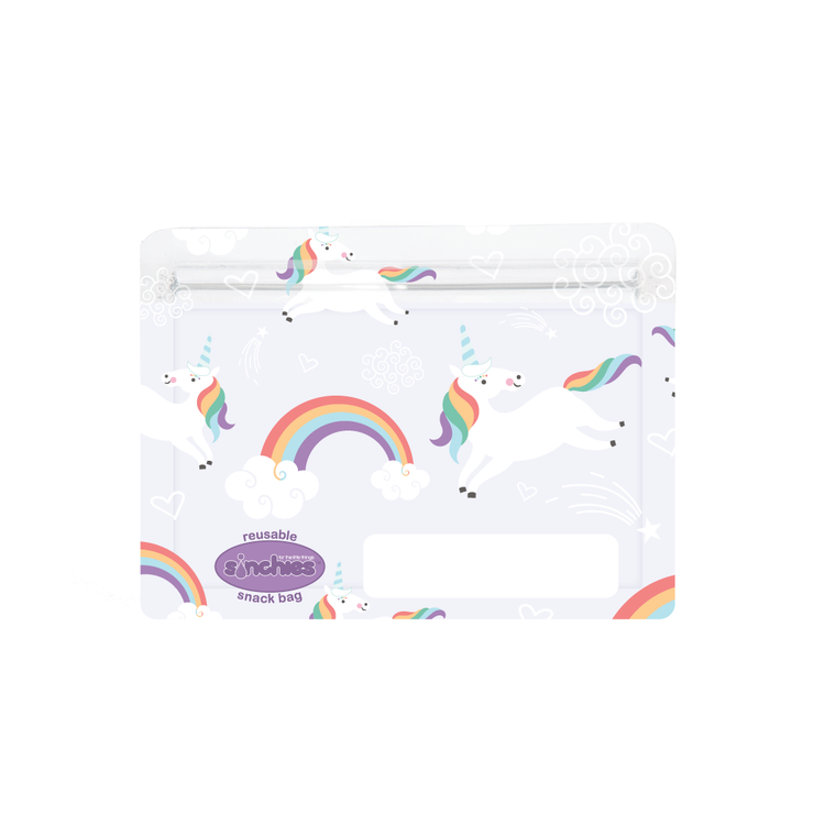 Sinchies reusable snack bag - unicorns