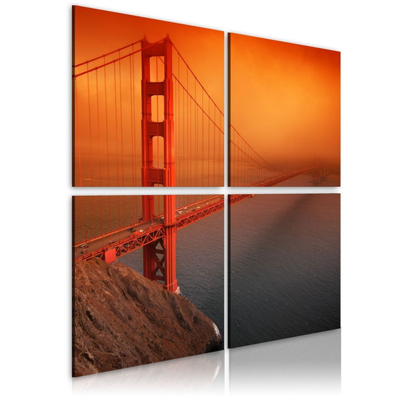 Quadro su tela - Il Golden Gate Bridge: San Francisco