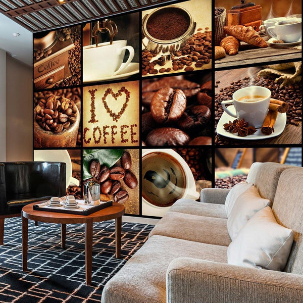 Carta da parati - Coffee - Collage