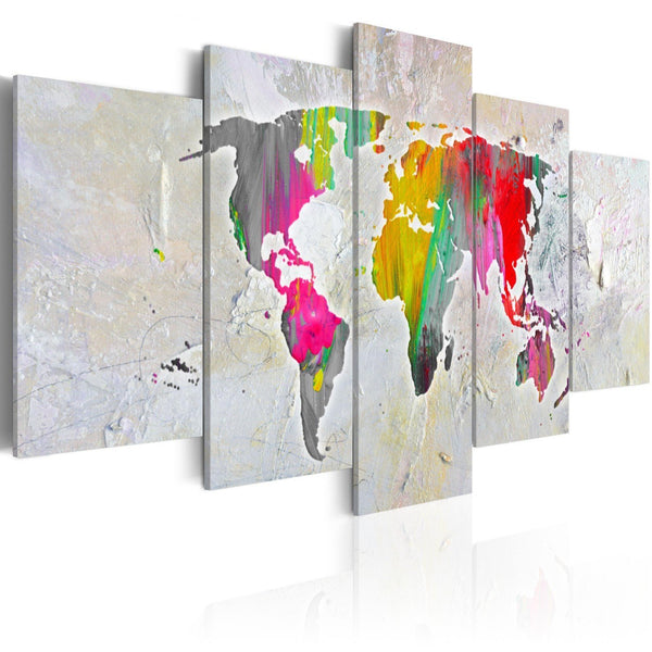 Quadro mappamondo - Illustration of the World
