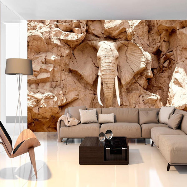 Carta da parati 3D - Stone Elephant (South Africa)