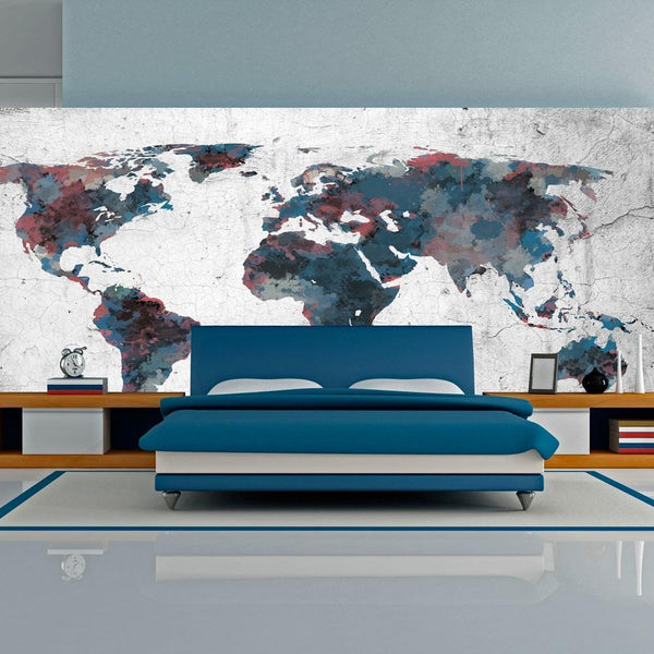 Carta da parati XXL - World map on the wall
