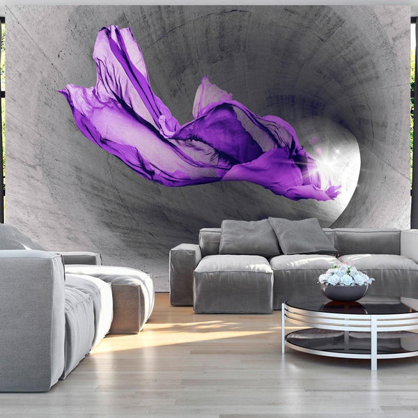 Carta da parati 3D - Purple Apparition