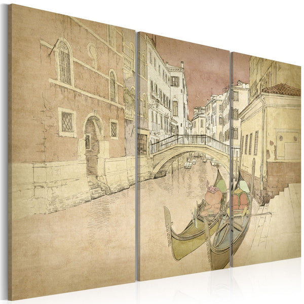 Quadro su tela - City of lovers - triptych