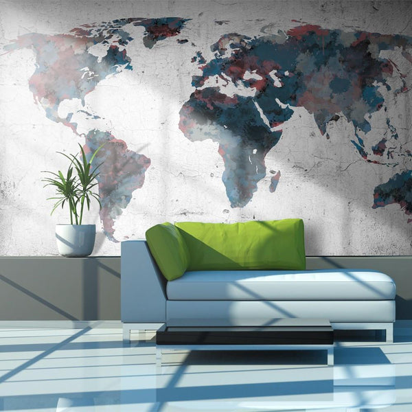 Carta da parati mappamondo - World map on the wall-i