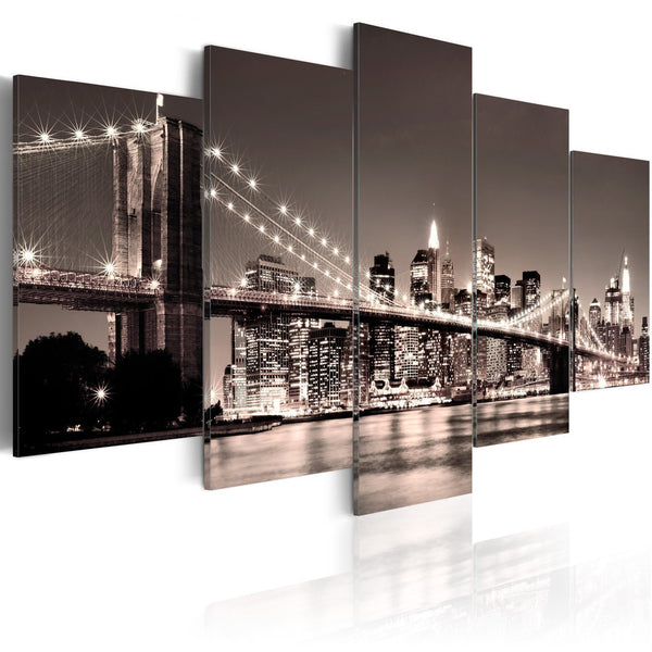 Quadro su tela - Manhattan: Ponte di Brooklyn II
