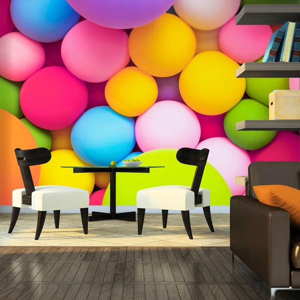 Carta da parati geometrica - Colourful Balls