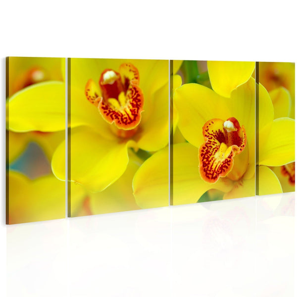 Quadro su tela - Orchids - intensity of yellow color