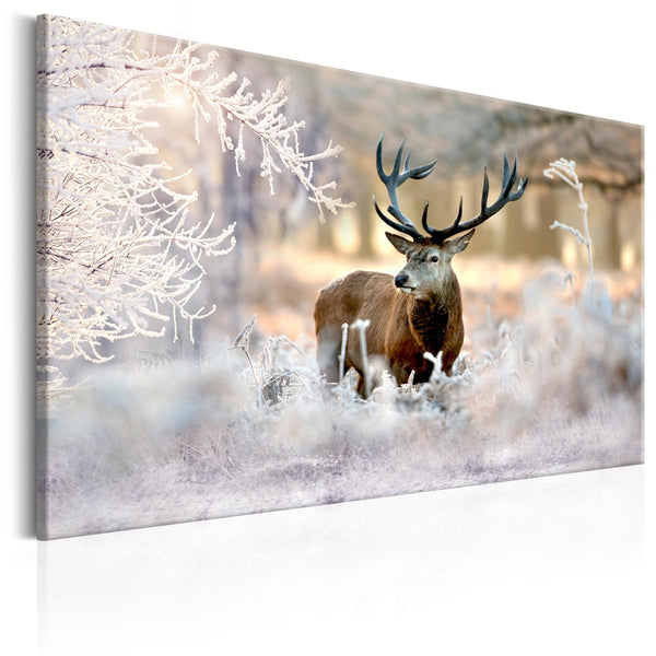 Quadro moderno su tela - Deer in the Cold