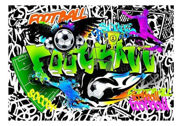 Carta da parati graffiti street art - Football Graffiti