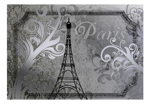 Carta da parati vintage - Vintage Paris - color argento
