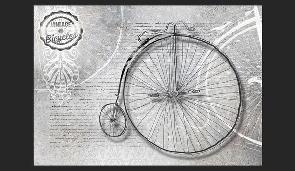 Carta da parati vintage - Vintage bicycles - black and white