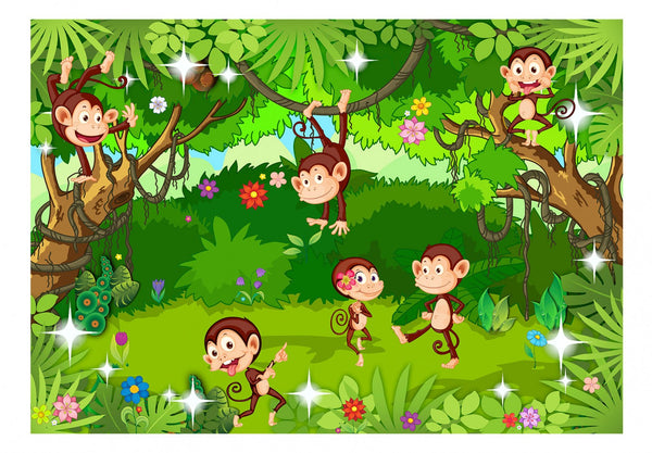 Carta da parati per bambini - Monkey Tricks
