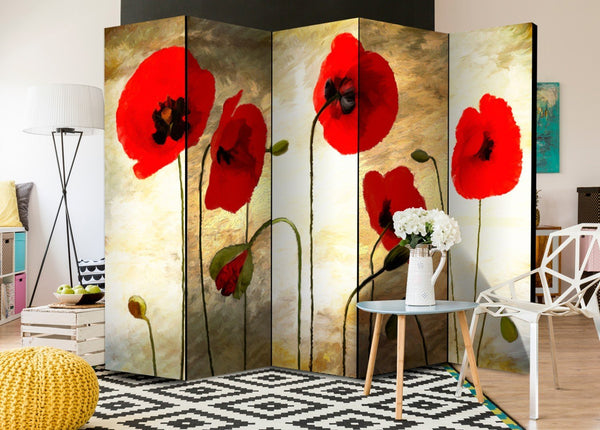 Separè per interni - Golden Field of Poppies II [Room Dividers]