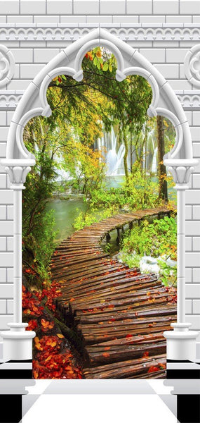 Carta da parati per porte - Photo wallpaper - Gothic arch and path I