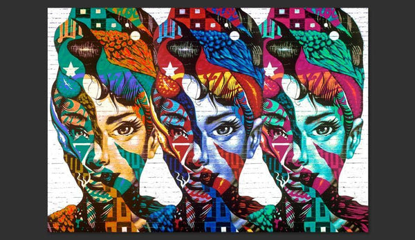 Carta da parati - Colorful Faces