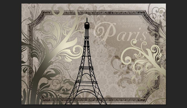 Carta da parati vintage - Vintage Paris - color oro