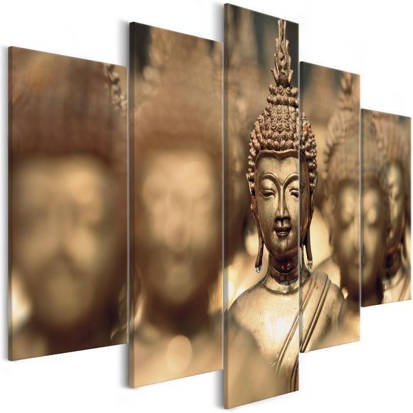 Quadro - Buddha Meeting (1 Part) Brown Wide
