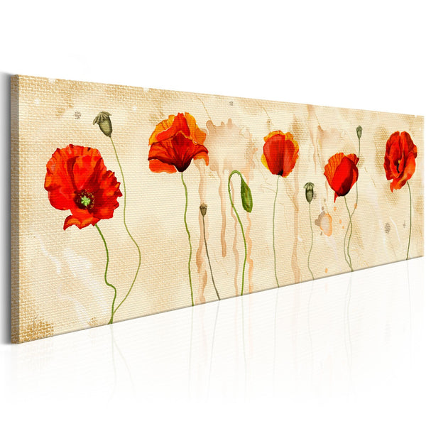 Quadro moderno su tela - Tears of Poppies