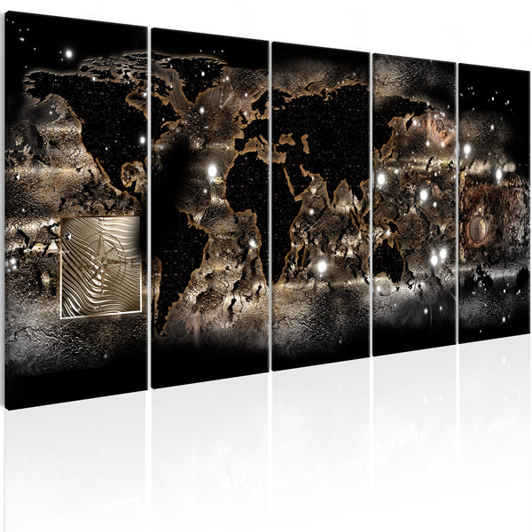 Quadro mappamondo - Earth Glow
