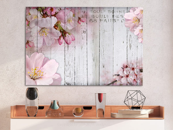 Quadro - Flowers on Boards (1 Part) Wide